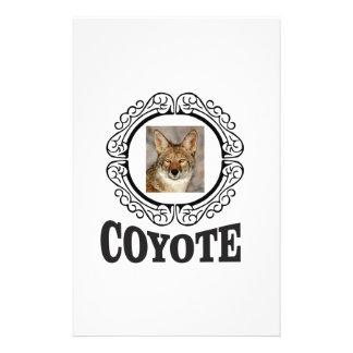 round coyote stationery