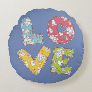 Round cushion Blue Love Remnants