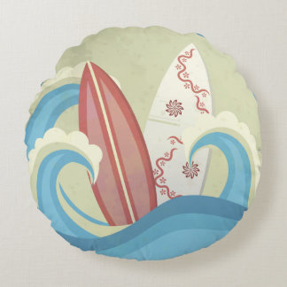Round cushion Surf Vintage