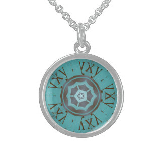 round custom Sterling silver necklace