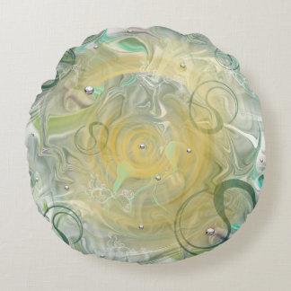 round dekokissen with green sample round cushion