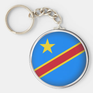 Round Democratic Republic of Congo Key Ring