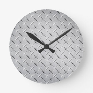 Round Diamond Plate Clock