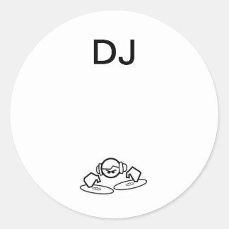Round DJ Stickers