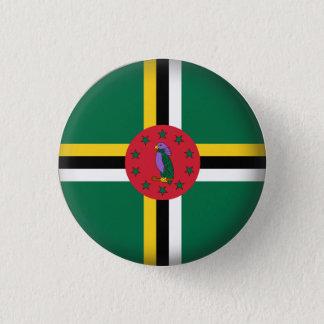 Round Dominica 3 Cm Round Badge