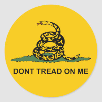 Round Dont Tread on Me Sticker -gadsden tea party