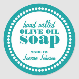 Round Dot Frame Soap Label Template