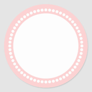 Round Dot Frame Sticker Template in Pink