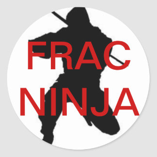 round frac ninja sticker