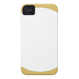 Round frame tan with white center iPhone 4 cover