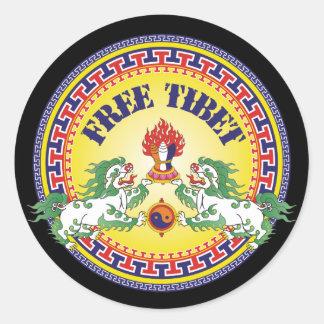 Round Free Tibet Round Sticker