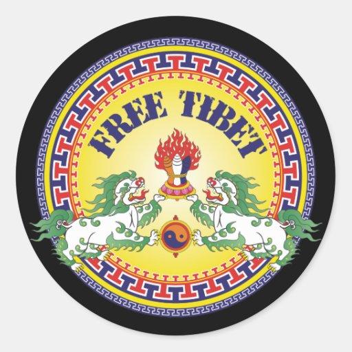 Round Free Tibet Stickers