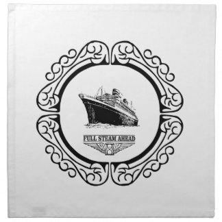 round full steam ahead napkin
