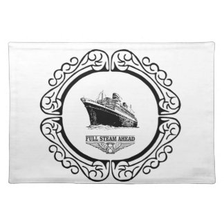 round full steam ahead placemat