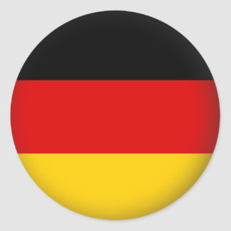 Round Germany Classic Round Sticker