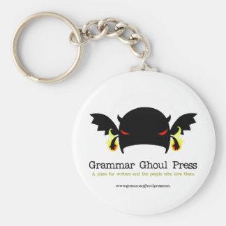 Round Grammar Ghoul Keychain