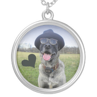 round halskette with dog personalized necklace