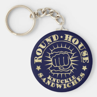 Round House Sandwiches Basic Round Button Key Ring