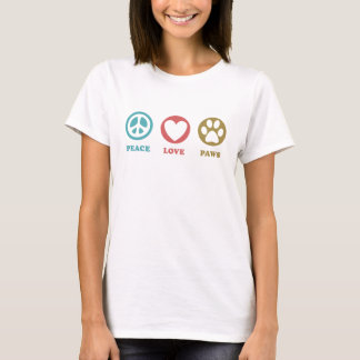 Round Icons Peace Love Paws T-Shirt