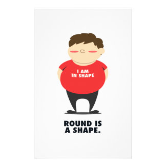 Round Is A Shape Stationery