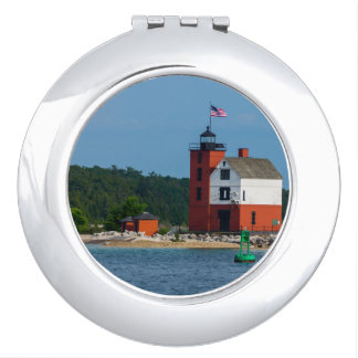 Round Island Lighthouse Travel Mirrors