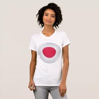 Round Japan Flag Womens T-Shirt