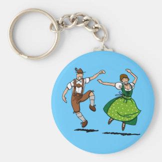 Round Keychain Oktoberfest Dancing Couple