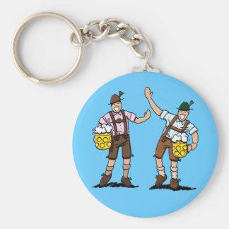 Round Keychain Oktoberfest Lederhosen Men Beer