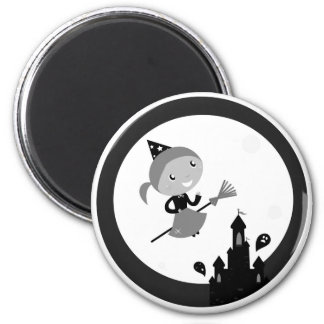 Round kids Magnet with flying girl