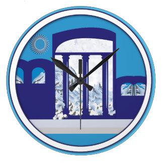 Round (Large) MEDITERRANEAN DREAM LOGO Clocks