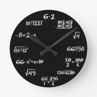 Round (Large) Wall Clock Engineer Style