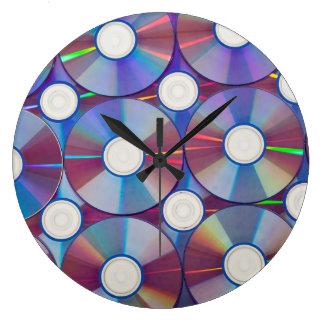 Round Large Wall Clock - Music CD