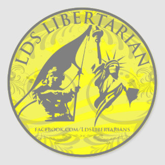 Round LDS Libertarian Sticker