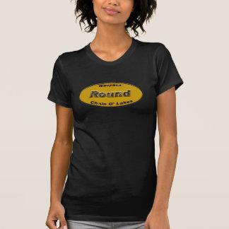 Round License Plate Orange T-Shirt