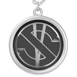 Round logo necklace
