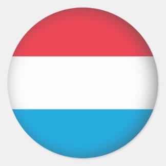Round Luxembourg Classic Round Sticker
