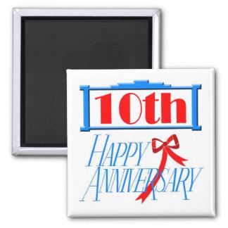 Round Magnet - 10th Wedding Anniversary