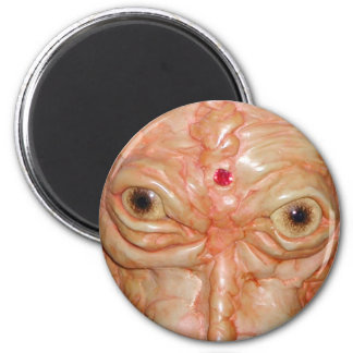 "Round Magnet, ""Brown Demon Eyes"" 6 Cm Round Magnet"