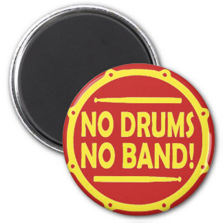 "Round magnet ""In the Drums In the Band """
