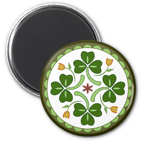 Round Magnet - Irish Good Luck Hex