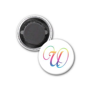 Round Magnet Letter Series U