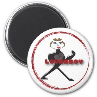 Round Magnet LOVERBOY CIRCLE LOGO