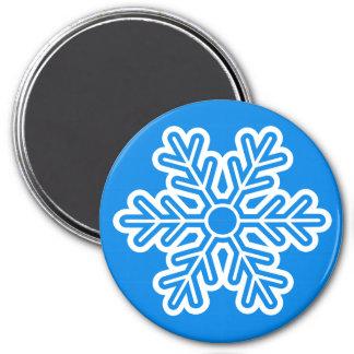 Round Magnet Snowflake