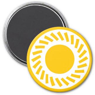 Round Magnet Sun Yello Standard