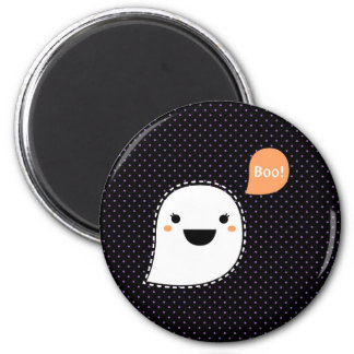 Round Magnet with Boo thinking bubble