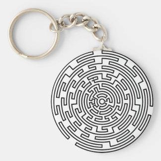 Round Maze Key Ring