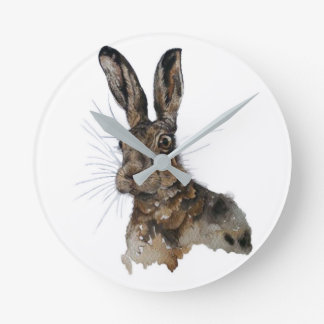 Round medium wall clock hare