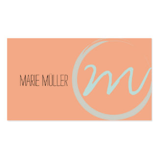 ROUND MONO GRAM PACK OF STANDARD BUSINESS CARDS