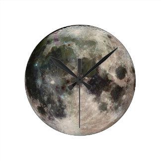 Round Moon Face Wall Clock