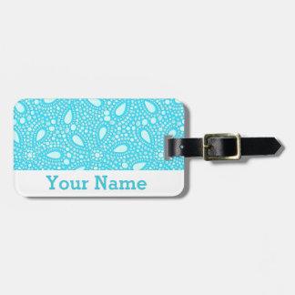 Round mosaic luggage tag